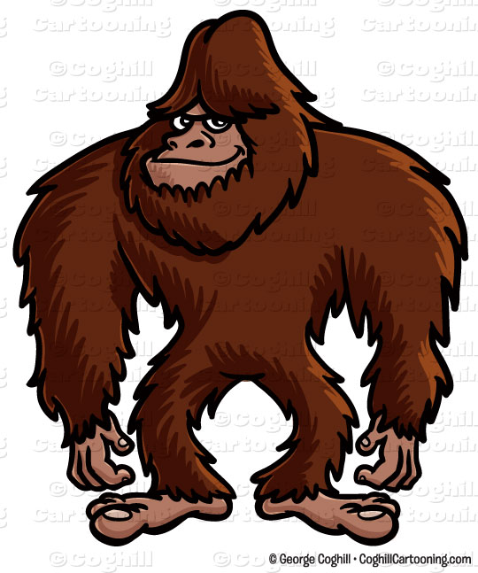 540x647 Cartoon Bigfoot Clip Art Stock Illustration