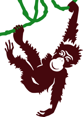 354x500 Hanging Monkey Vector Clip Art Public Domain Vectors