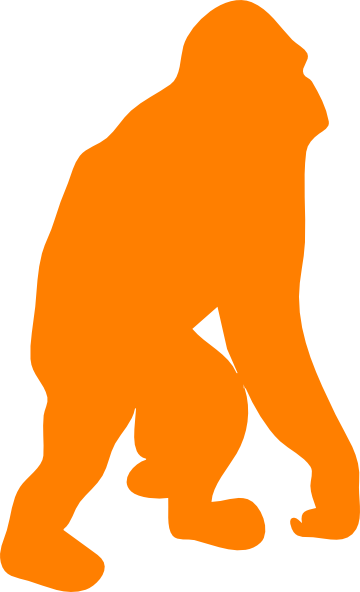 360x592 Orange Orangutan Clip Art