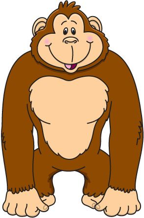 294x446 Clipart Of Ape