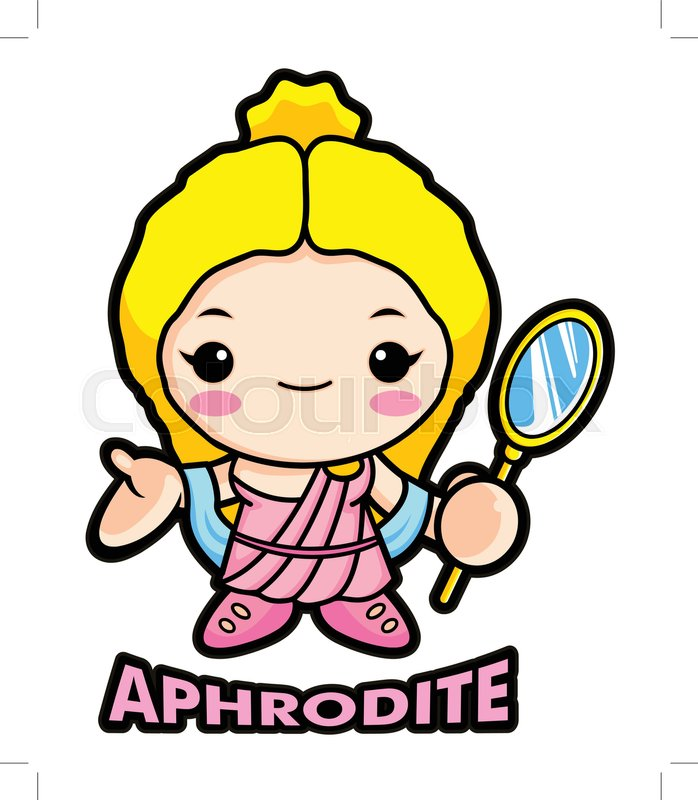 698x800 Aphrodite Mascot, The Goddess Of Beauty. Venus Character. Olympus