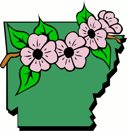 428x440 Arkansas Map And Flowers Clip Art Download