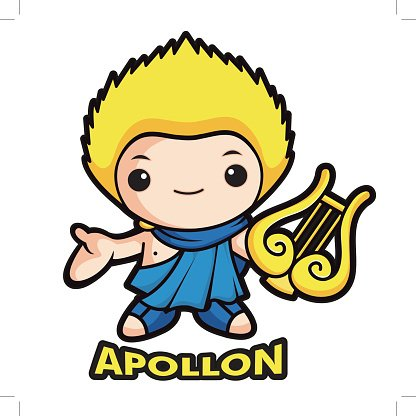 416x416 Apollo Mascot, The God Of The Apollo Character Premium Clipart
