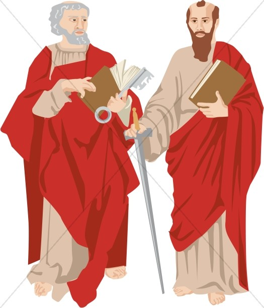 525x612 St. Paul In Black And White New Testament Clipart