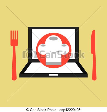 450x470 Laptop Delivery Food App Vector Illustration Eps 10 Eps Vectors
