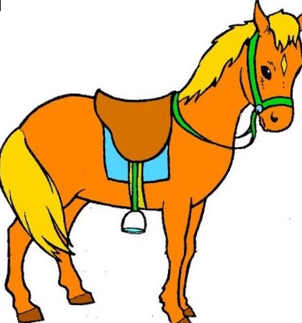 437x466 Horse Colored Clipart Pictures