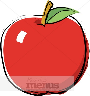 364x388 Clipart Of Apple Food Graphics