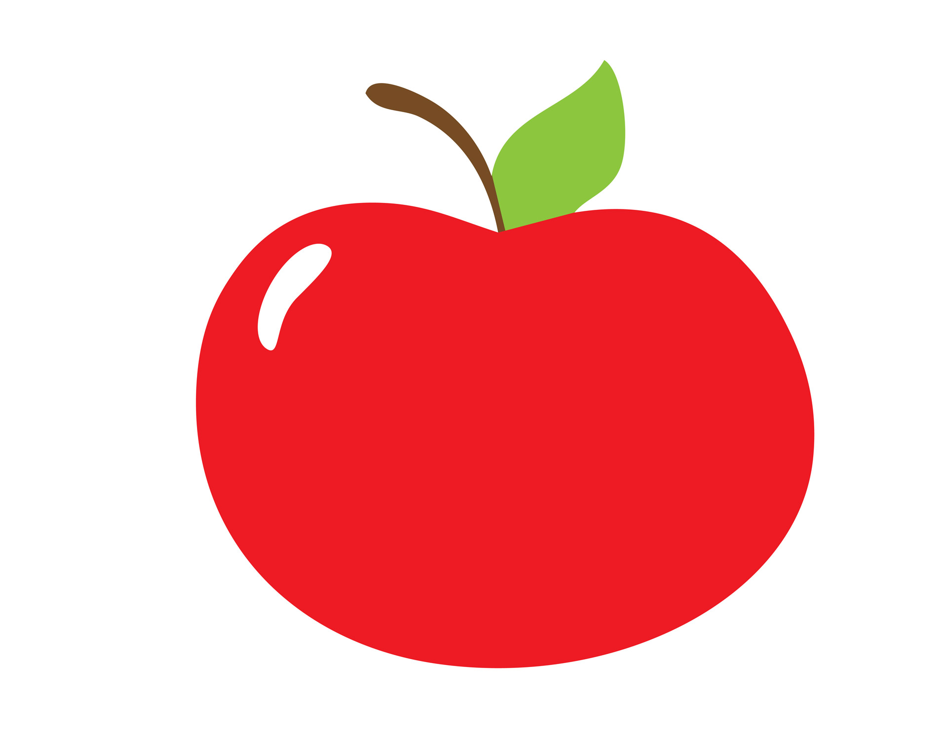 1920x1509 Red Apple Clipart Free Stock Photo