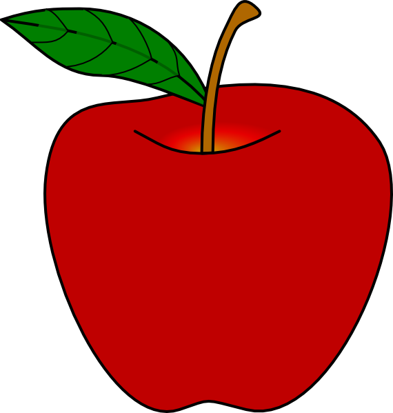 570x599 Red Clipart Red Apple Clip Art