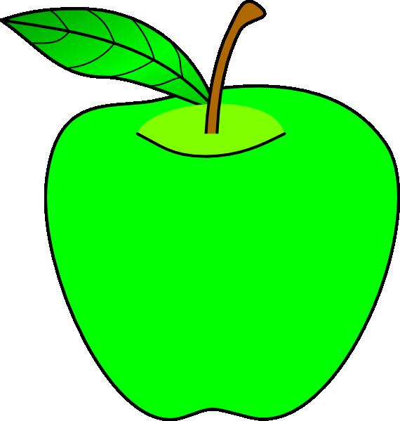 570x599 Green Apple Clipart Green Apple Clip Art