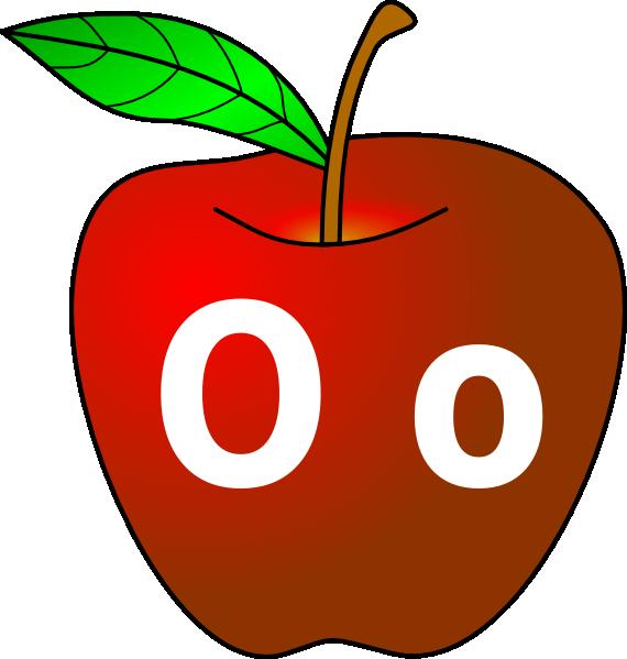 570x599 Apple With O O Clip Art