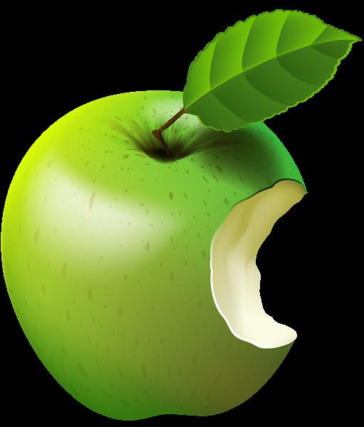 511x600 Bitten Apple Green Transparent Clip Art Imageu200b Gallery
