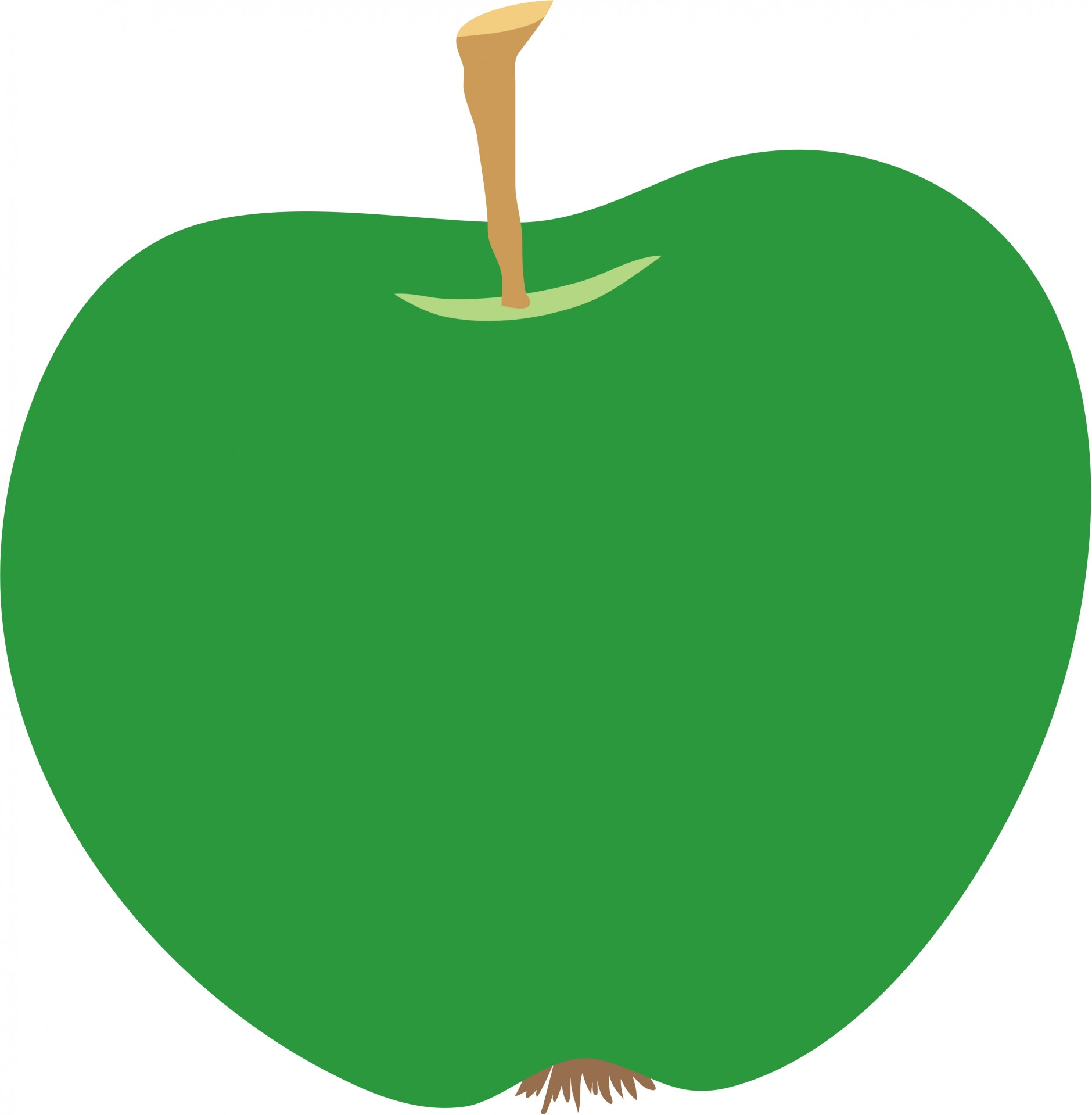 1880x1919 Green Apple Clipart Free Stock Photo