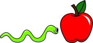 300x141 Apple Worm Clip Art Free Clipart Images 2