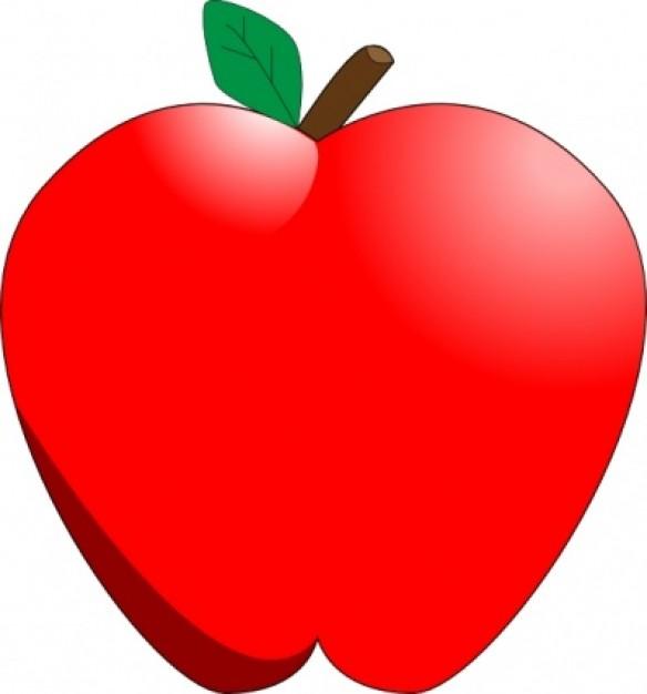 584x626 Cute Apple Clip Art Free Clipart Images 3