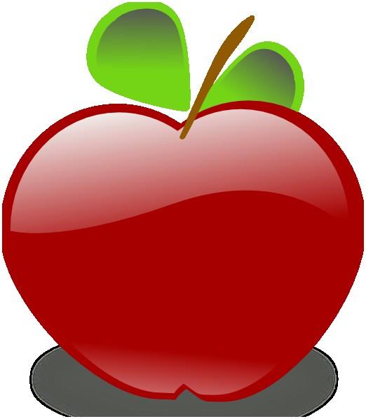 522x598 Free Clipart Apple Elegant Apple Clip Art