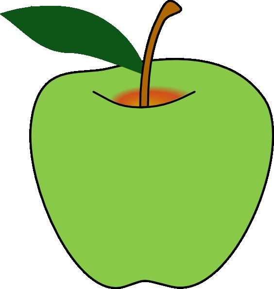 564x594 Free Green Apple Clip Art Clipart Panda