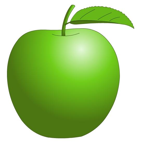 550x550 Green Apple Clipart