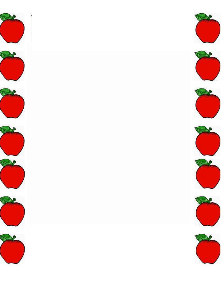 710x915 Apple Border Clip Art