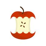 150x150 Apple Core Set. Fruit Trash. Royalty Free Vector Clip Art Image