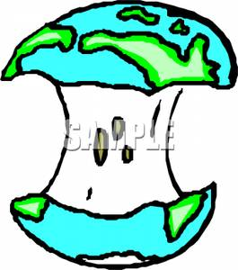 265x300 Clip Art Image The Globe On An Apple Core