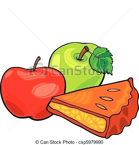 450x470 Clip Art Of Apples Vector Apple Tree And Baskets Of Apples