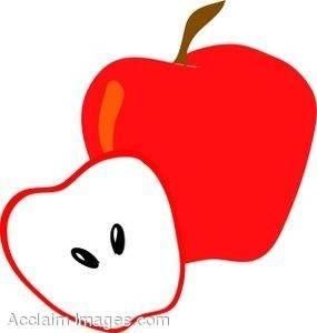 285x300 Half Eaten Apple Click Here Clipart