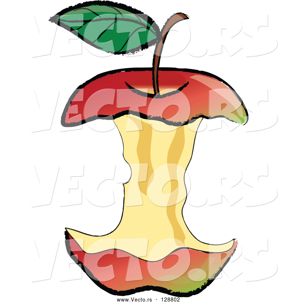 1024x1044 Vector Of Organic Red Apple Core After Being Devoured By Pams