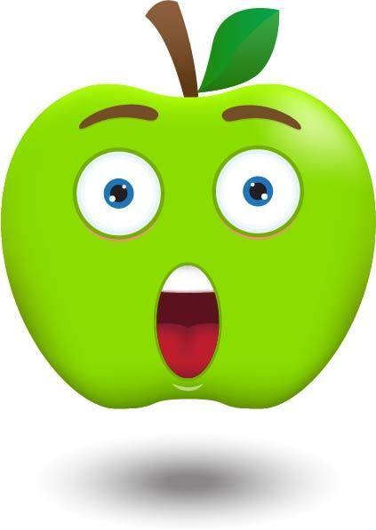 Apple Emoji Clipart