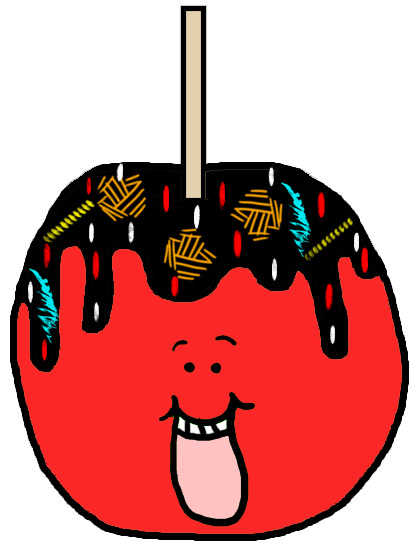 414x551 Candy Apple Clipart