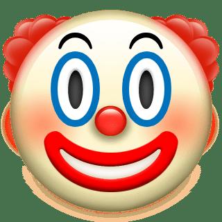 320x320 Clown Apple Emoji Transparent Png
