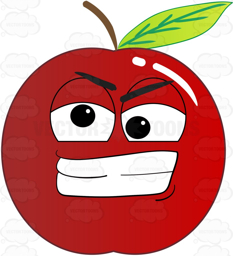 933x1024 Crazy And Frustrated Apple Emoji Cartoon Clipart Vector Toons