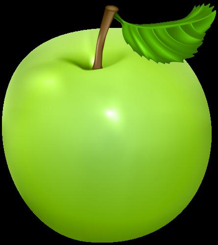 445x500 Green Apple Png Clip Art Image