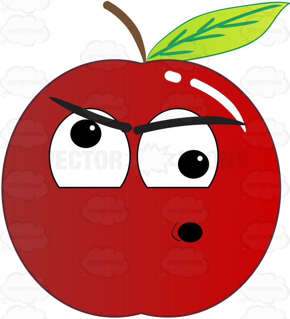 933x1024 Screwball And Nuts Red Apple Emoji Cartoon Clipart Vector Toons