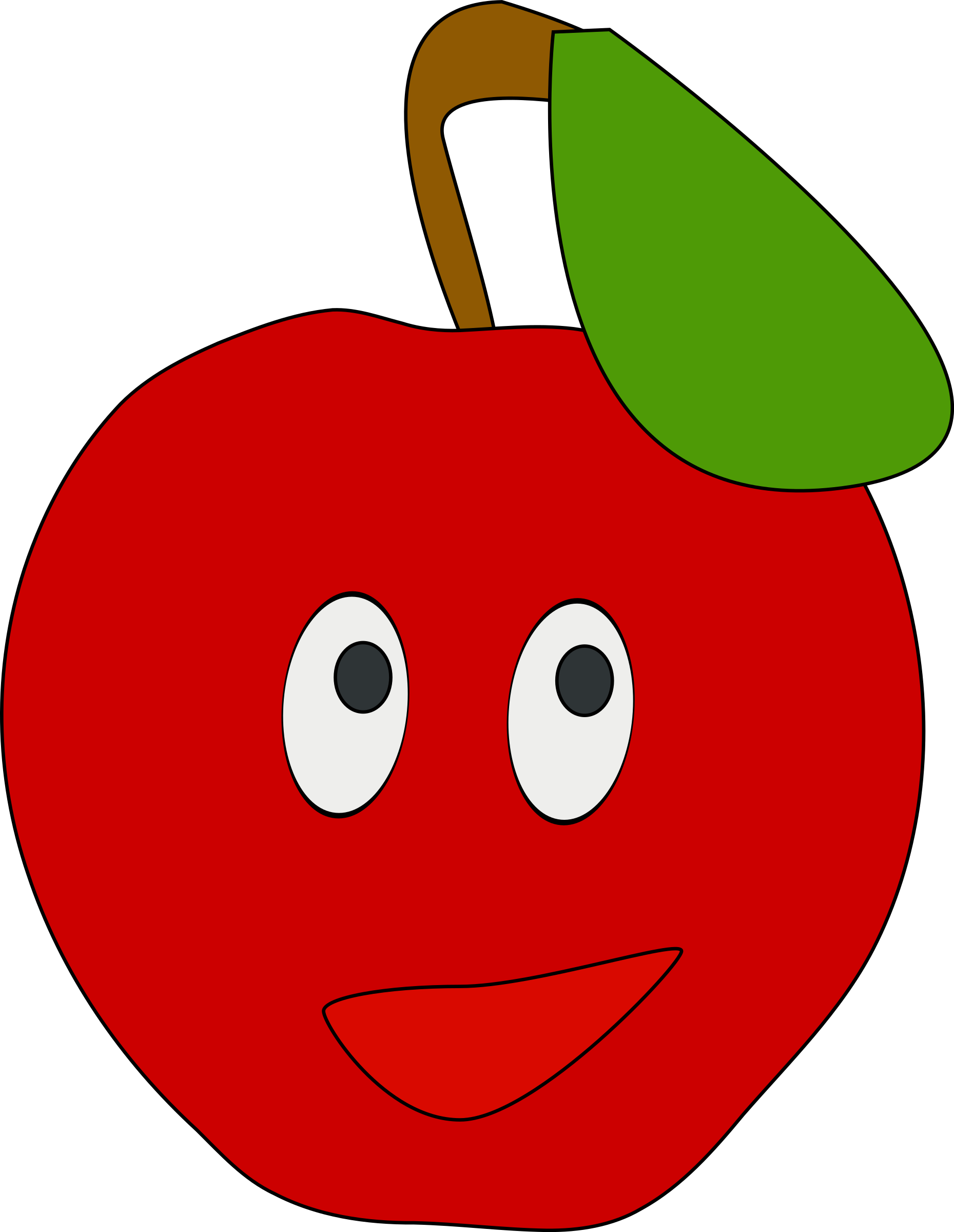 1859x2400 Smiling Apple Icons Png