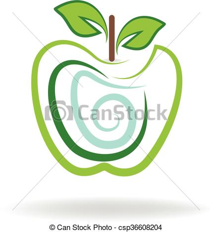 428x470 Apple Logo Abstract Vector Icon Illustration Vector Clipart