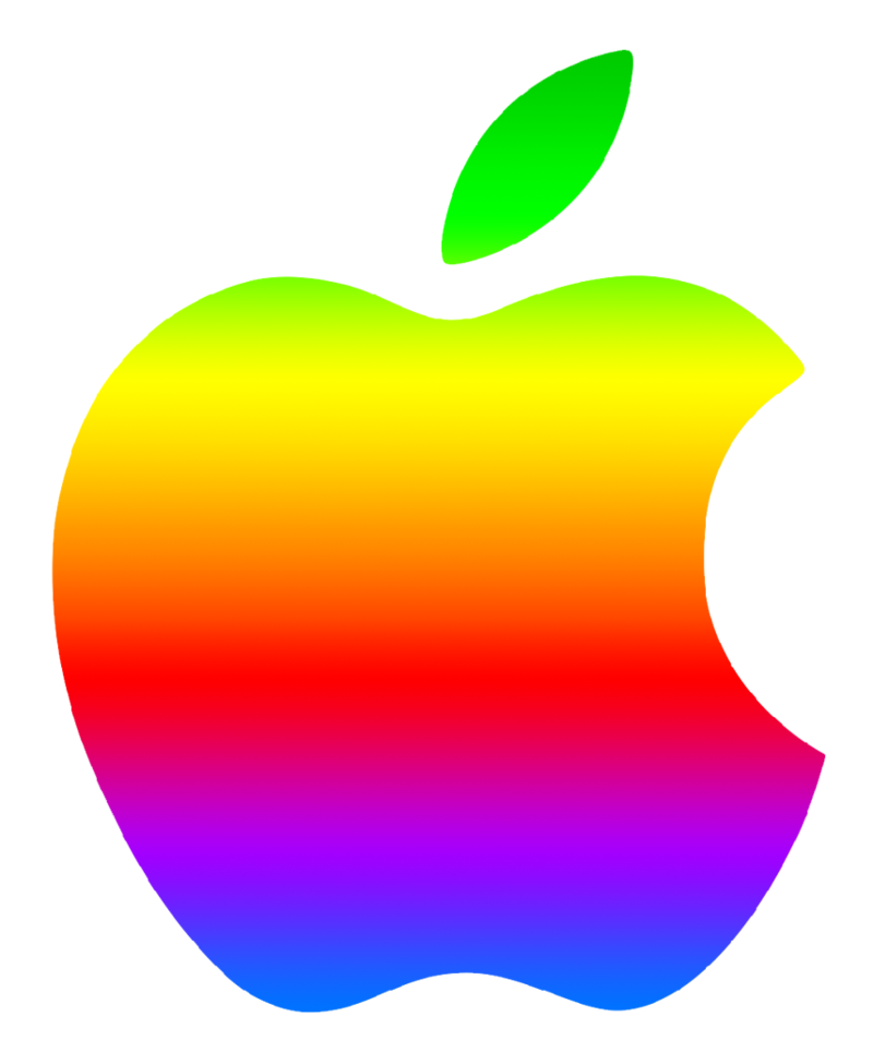 800x975 Colored Modern Apple Logo 2 By Greenmachine987