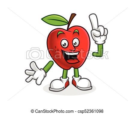 450x380 Got An Idea Apple Mascot. Vector Of Apple Character. Apple Logo.