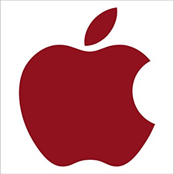 355x354 Apple Clipart Dark Red