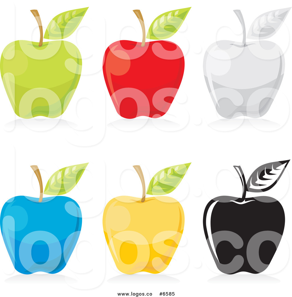 1024x1044 Royalty Free Clip Art Vector Logos Of Colorful Apples By Any