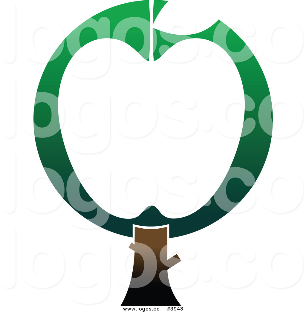 1024x1044 Royalty Free Green And White Apple Tree Logo By Vector Tradition