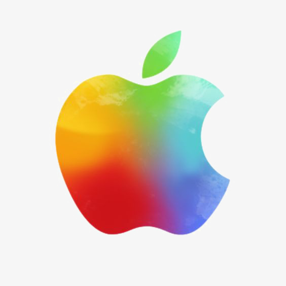 564x564 Watercolor Apples, Apple Logo, Iphone, Gradient Color Png Image
