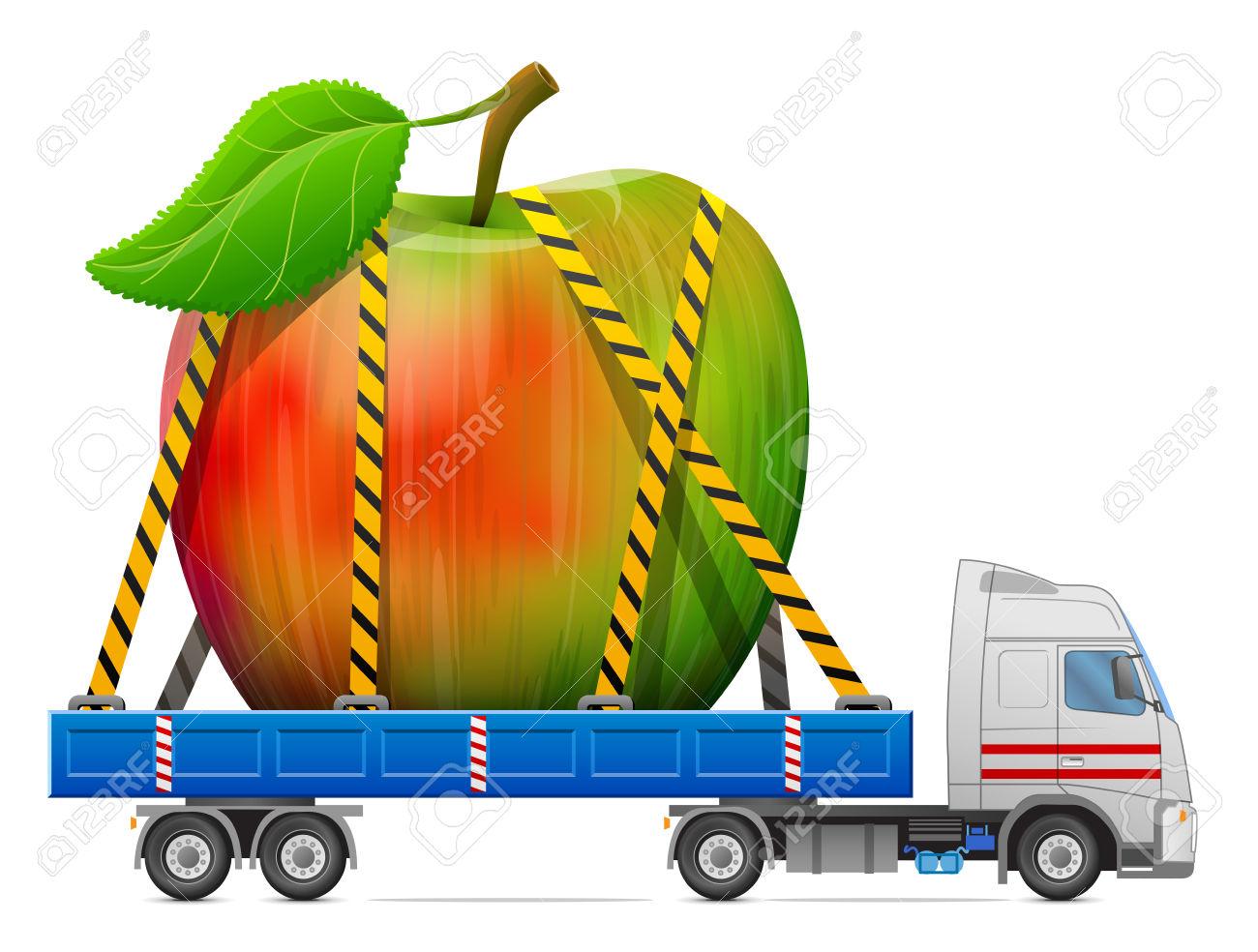 1300x984 Apple Clipart Truck