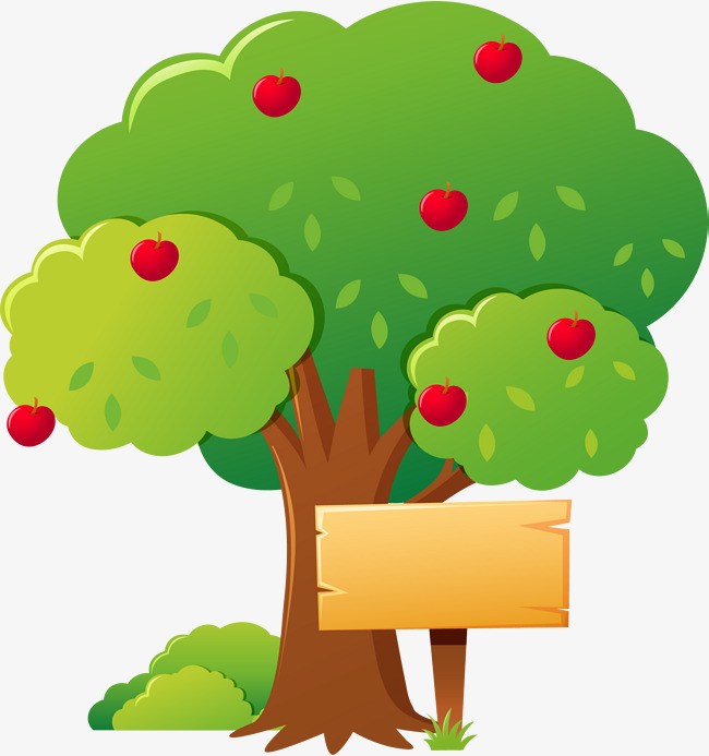 650x693 Cartoon Apple Tree, Apple, Fruit Tree, Orchard Png And Vector
