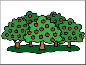 304x229 Clip Art Apple Orchard Color I Abcteach