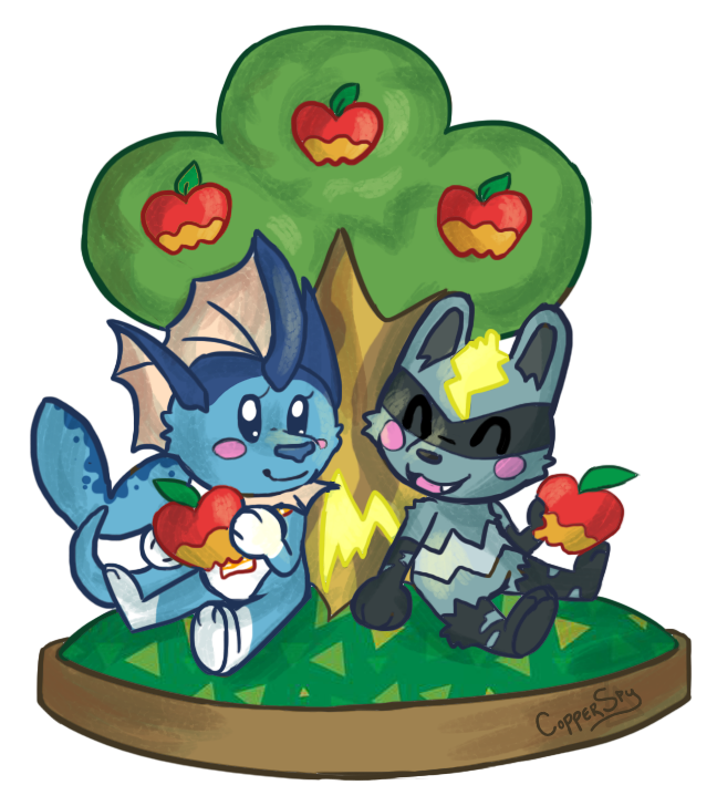648x728 Ych] Animal Crossing Apple Orchard By Coppergoblin