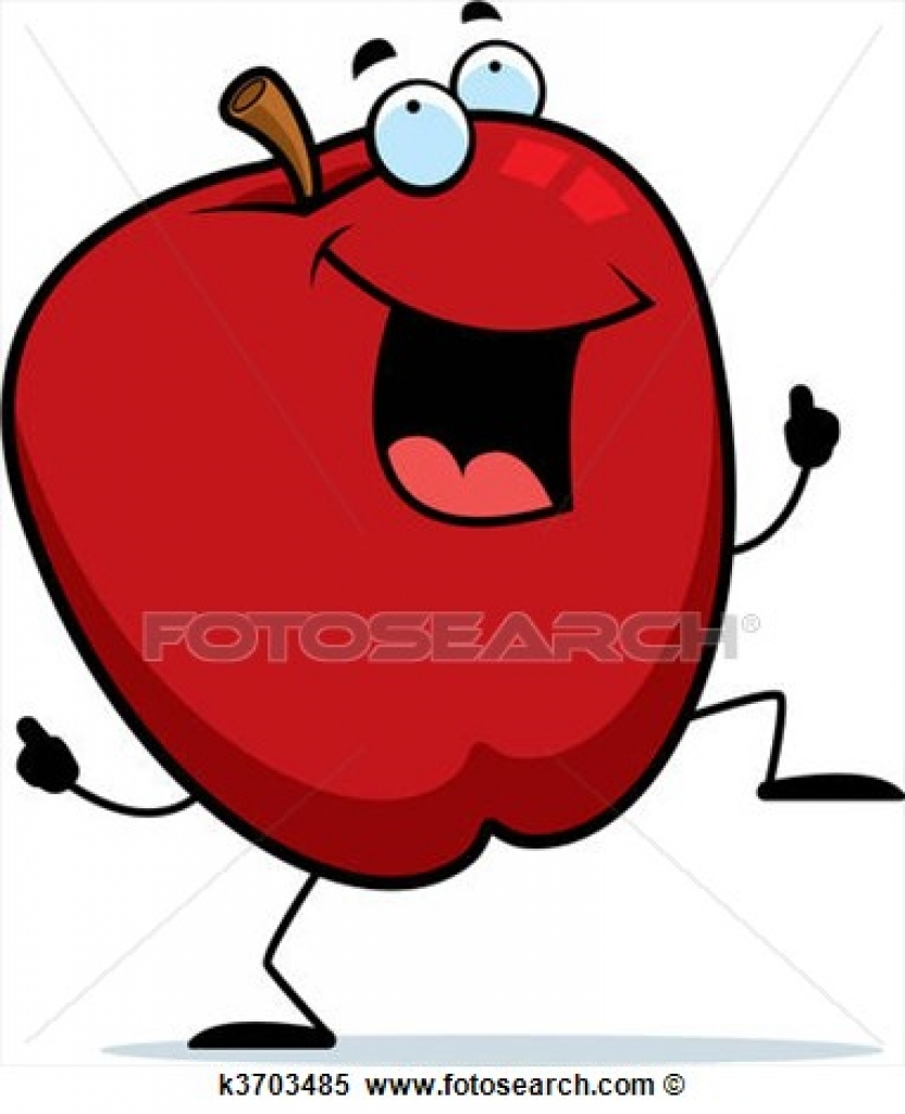 832x1024 Clipart Of Apple Dancing K3703485 Search Clip Art Illustration