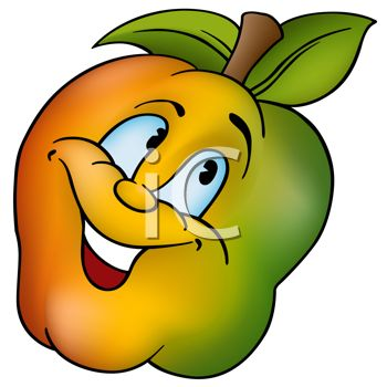 350x350 Cartoon Of Healthy Food A Fiber Rich Apples