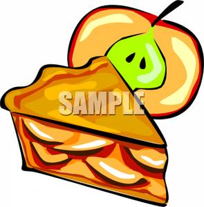 295x300 A Slice Of Fresh Apple Pie Clipart Picture