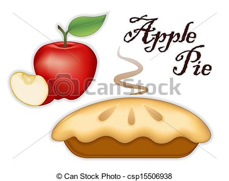 450x357 Traditional Fresh Baked Steaming Apple Pie, Ripe Red Apple